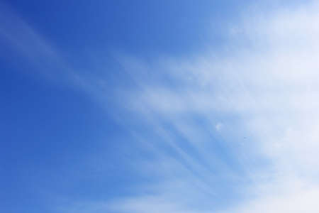 Blue sky with lining cloud