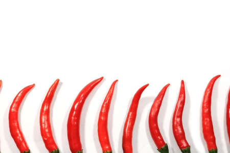 Red chili pepper on white background