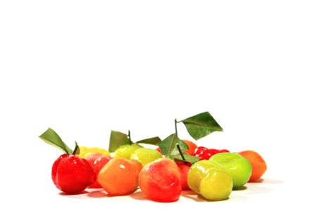 Deletable Imitation Fruits on white background