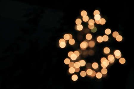 Abstract bokeh of light on midnight
