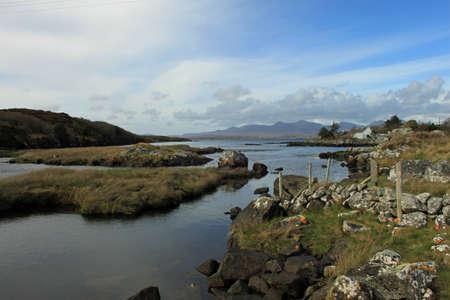connemara: A coastal landscape in Connemara, County Galway, Ireland Stock Photo
