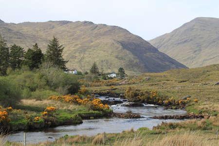 river county: View of Bundorragha River, County Mayo, Ireland.
