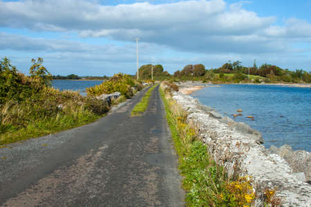 causeway: A view of the causeway from Inchiquin Island, Co. Galway.