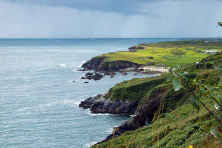 peacefull: A view of the Atlantic Ocean off the West Coast of Ireland, Co. Galway. Stock Photo