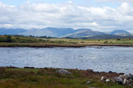 connemara: Landscape near Rosmuc, Connemara, Co. Galway, Ireland. Stock Photo