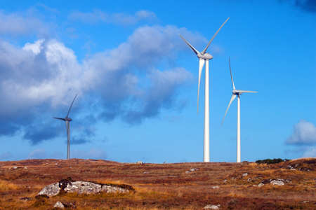 windfarms: Wind Turbines in a bleak rural setting