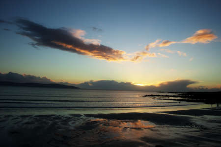 strand: Evening at Silver Strand Co. Galway Ireland.
