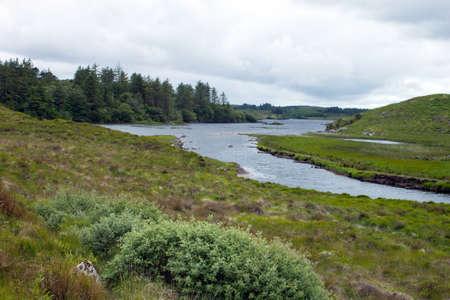 connemara: A view of Ballinahinch Lake, Connemara, Co. Galway, Ireland.