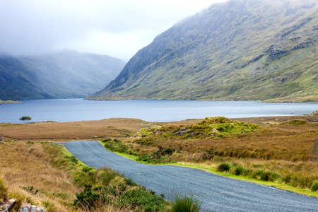 lough: A view of Doo Lough, and Ben Bury, Co. Mayo, Ireland.
