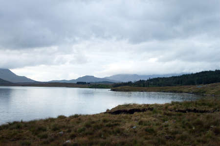 lough: A view of Lough Inagh, Connemara, Co. Galway, Ireland. Stock Photo