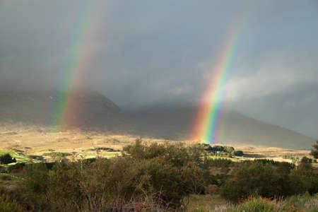 connemara: A double rainbow in Connemara, Co. Galway, Ireland.