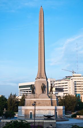 Victory monument in central Bangkok. photo