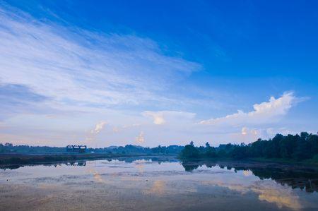The morning light atSilaporn village Chantaburi Thailand. Stock Photo - 8128369
