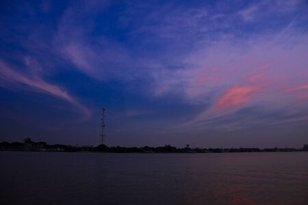 Bangkok and the beautiful sunset sky ,Thailand. Stock Photo - 8818405