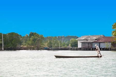 Fishing boats in sea at  Bang Chan Chataburi, Thailand. Stock Photo - 8877804