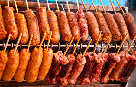 nicely: Thai Nicely grilled sausages.