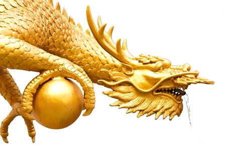 The golden dragon carrying the world and blow photo