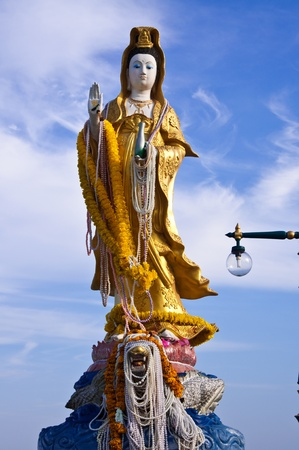 thep: Kuan Yin Thep the holy angels at Chonburi,Thailand.
