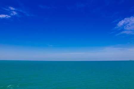 Sea and sky in the morning at Koh Chang, Thailand photo