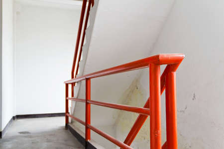 sidewall: Fire escape ladder  Stock Photo