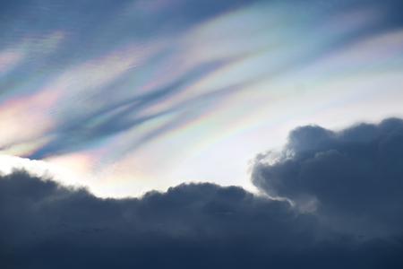 iridescent: Iridescent clouds.