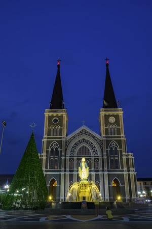 conception: The Cathedral of Immaculate Conception Chanthaburi Stock Photo