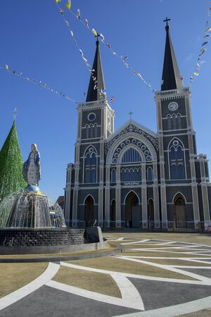 immaculate: The Cathedral of Immaculate Conception Chanthaburi Stock Photo