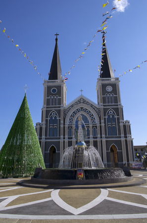 immaculate conception: The Cathedral of Immaculate Conception Chanthaburi Stock Photo