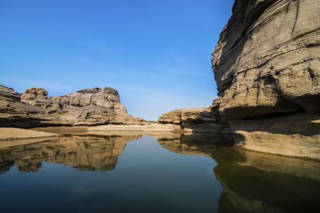 Thailand grand canyon (sam phan bok) at Ubon Ratchathani, Thailand Stock Photo