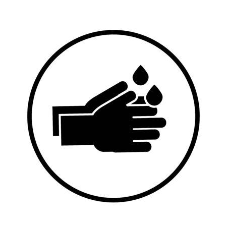 Désinfection. Icône de bouteille de désinfectant pour les mains, gel de lavage. Illustration vectorielle Vecteurs