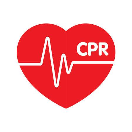 Heart cpr medical icon vector design