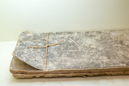 rotting: historical evidence. archives. document. ancient book.