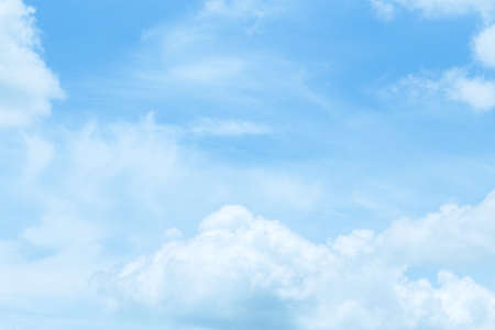 Beautiful sky and floating clouds Stock Photo