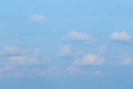 Floating clouds, fluffy colors against the blue sky Stok Fotoğraf