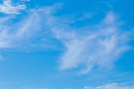 The morning sky on a bright day and the clouds float full of sky. Stok Fotoğraf