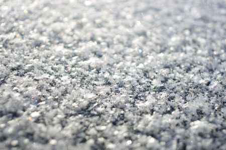 Macro shot of snowflakes with bokeh