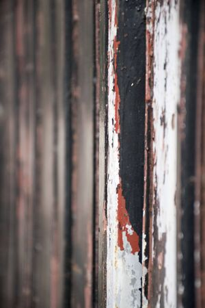 rust at gate fence. Vertical image metal vintage style. Stock Photo
