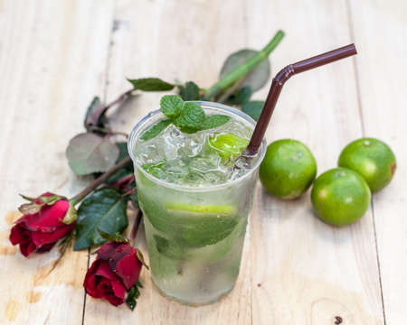 cool mint: Mint drink water from natural cool Stock Photo