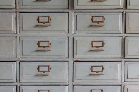 drawers: Old wooden drawers for storage Stock Photo
