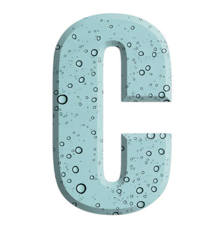 letter c: letter C Water drop design.