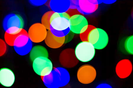 Bokeh many colors, background or texture Stock Photo