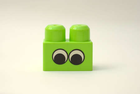childern: plastic block for childern playing indoors toys Stock Photo