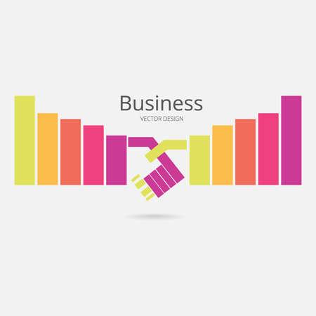 Business graph .vector growth progress Vector