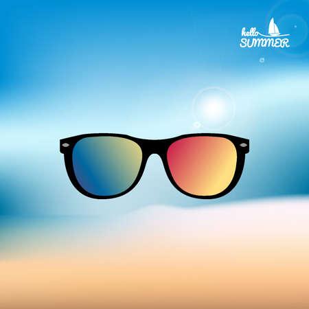 eyeglasses: beach eyeglasses Illustration