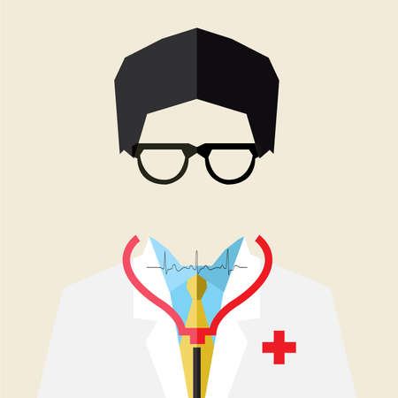 vector illustration of female doctor Vector