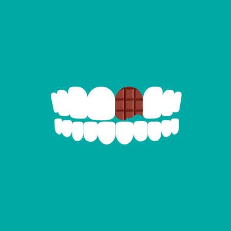 dientes con caries: carie