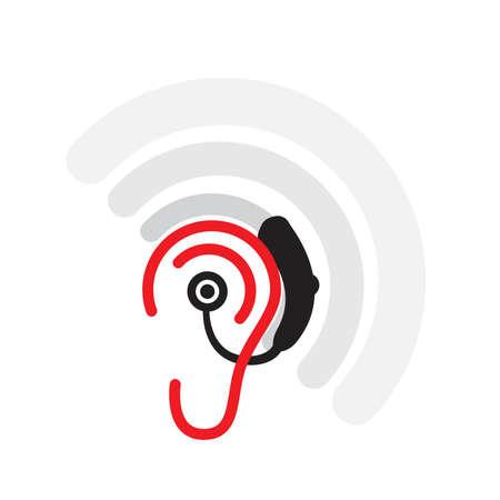Audífono  Ilustración de vector