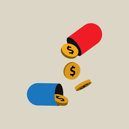 Medicines with money inside