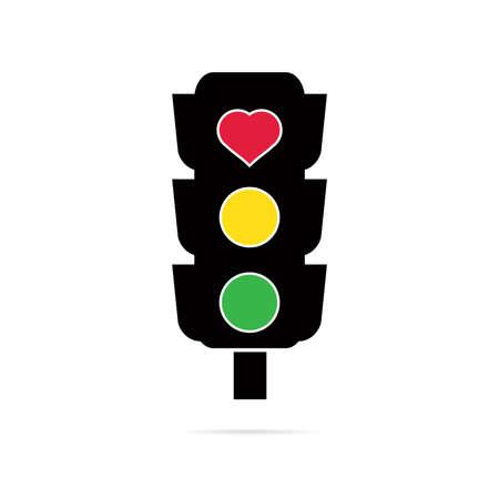 regulating: Traffic lights icon Illustration