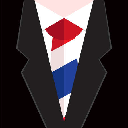 folded clothes: necktie in national colours of Thailand Illustration